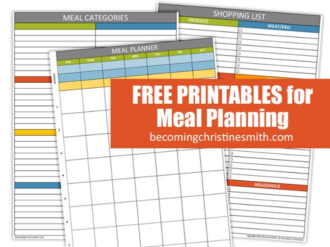 30 Family Meal Planning Templates {weekly, monthly, budget} Tip Junkie - weekly dinner planner with grocery list