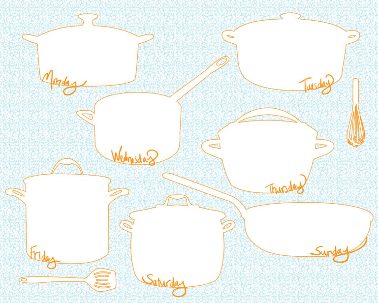 30 Family Meal Planning Templates {weekly, monthly, budget} \u2013 Tip Junkie