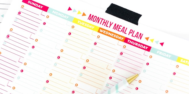 30 Family Meal Planning Templates {weekly, monthly, budget} Tip Junkie - menu planning template