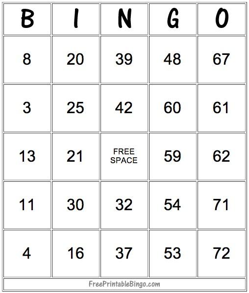 49 Printable Bingo Card Templates \u2013 Tip Junkie