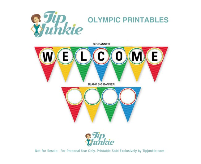 WELCOME Triangle Pennant Banner {free printable} \u2013 Tip Junkie