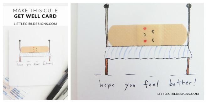 Make A Cute Get Well Card \u2013 Tip Junkie