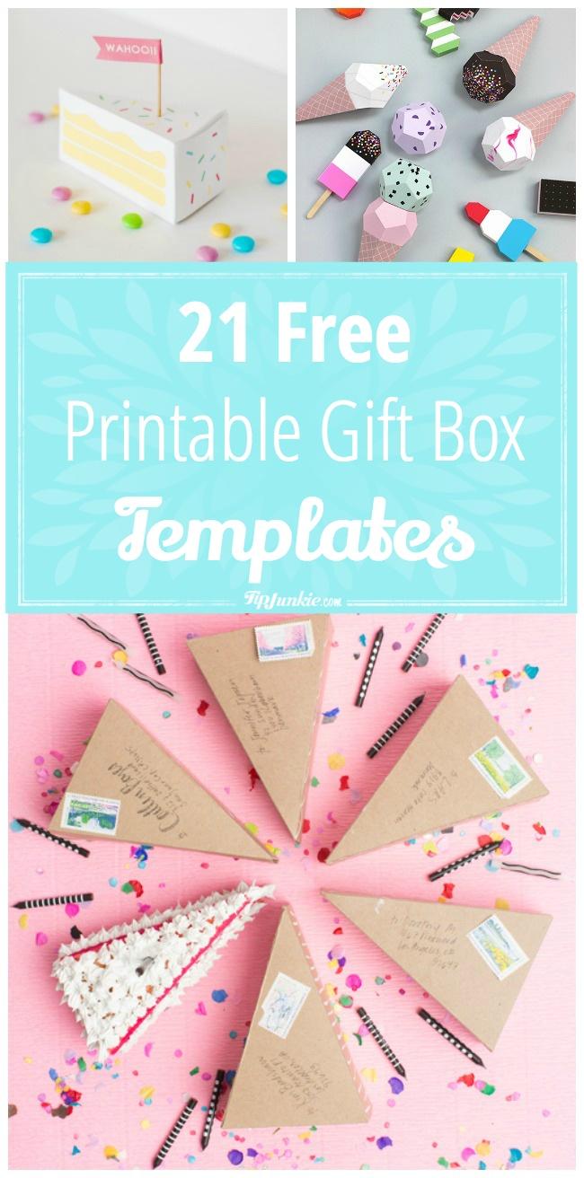 printable box template with lid
