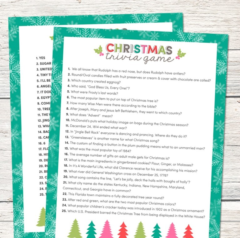 40 FREE Printable Christmas Party Games \u2013 Tip Junkie