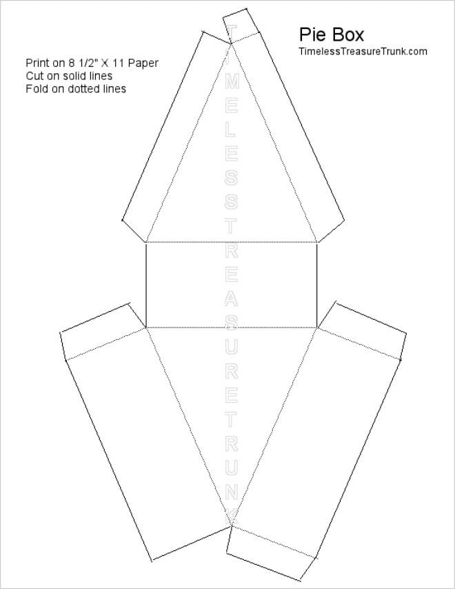 8 Free Printable Pie Box Templates \u2013 Tip Junkie