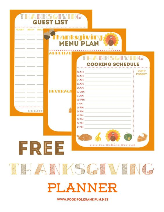 15 Thanksgiving Planning Printables and Checklists \u2013 Tip Junkie