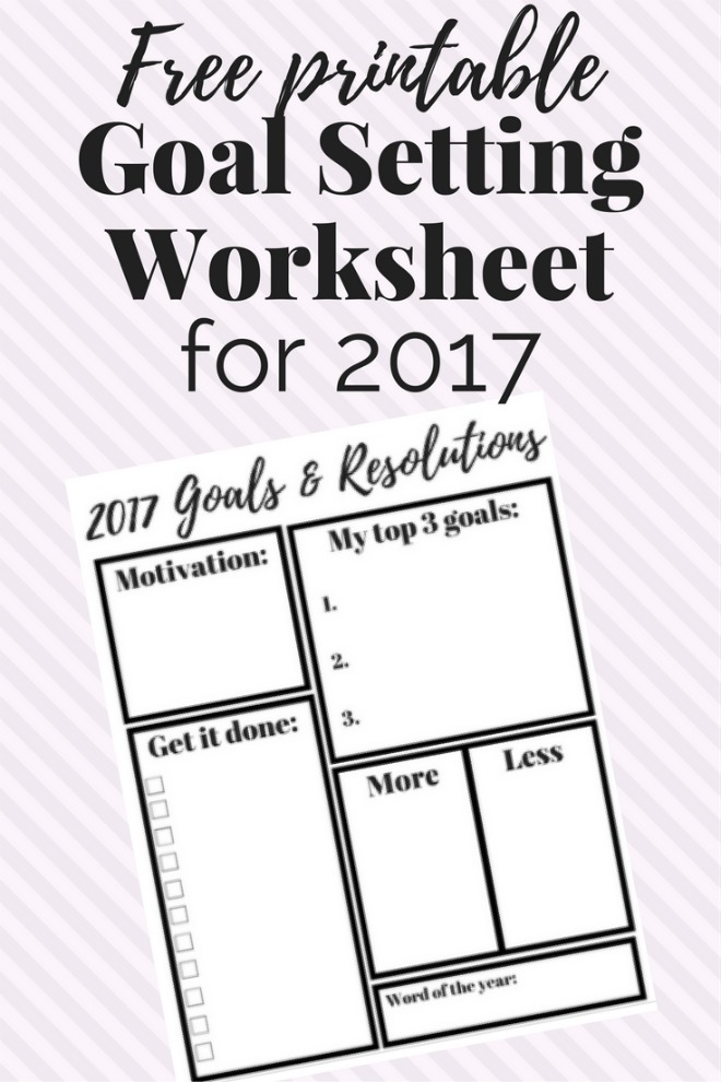 8 Free Goal Setting Worksheet Printables Tip Junkie - goal setting templates