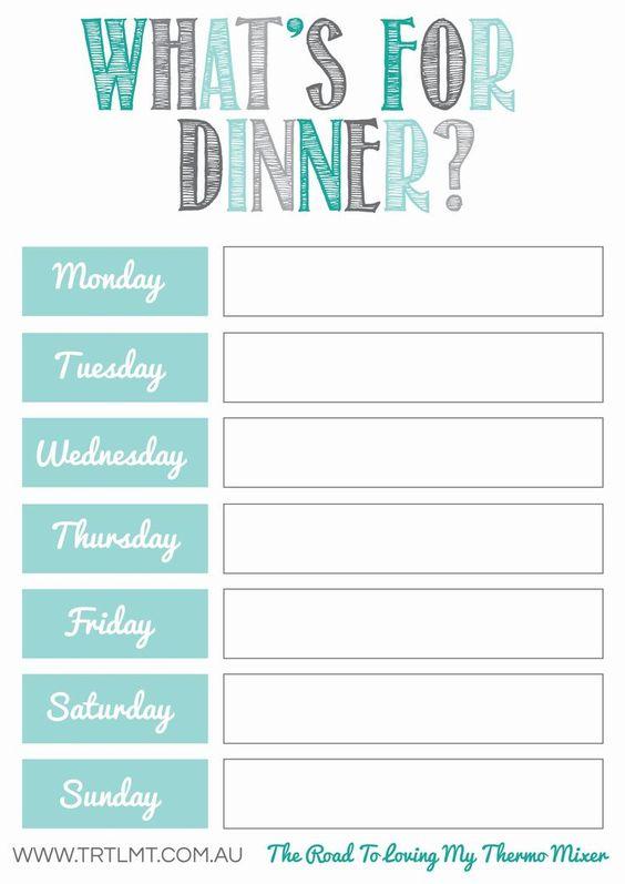 10 Free Weekly Meal Plans Tip Junkie - weekly dinner meal plans