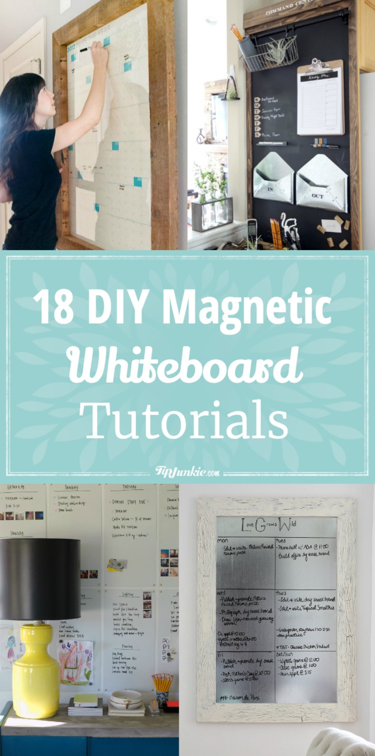 Turn A Wall Into A Whiteboard 18 Diy Magnetic Whiteboard Tutorials Tip Junkie