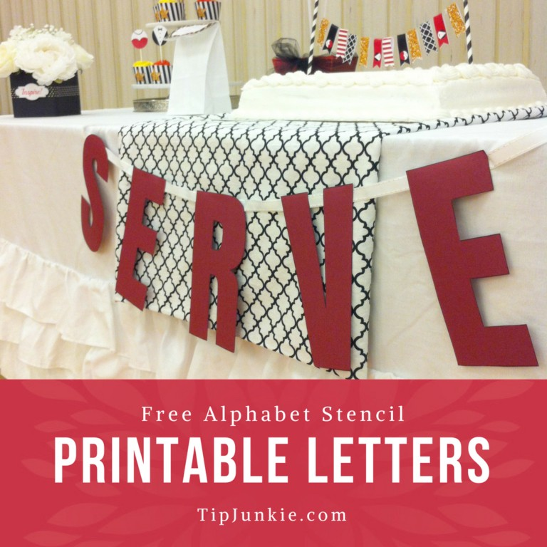 Alphabet Free Printable Letters {free stencil} \u2013 Tip Junkie