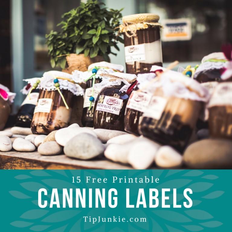 How To Make Labels for Jar Canning {15 free printables} \u2013 Tip Junkie