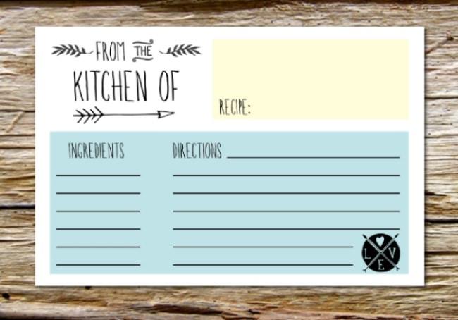10 Printable Recipe Card Templates {free} Tip Junkie - recipe card