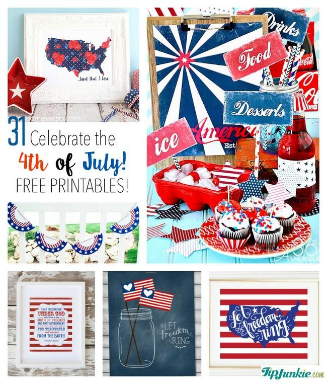 31 Free Printables to Celebrate the 4th of July \u2013 Tip Junkie