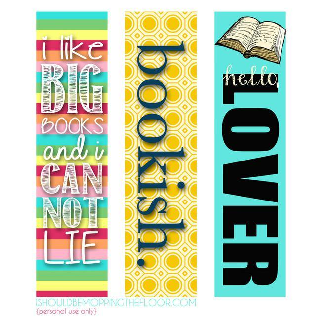 23 Printable Bookmarks Perfect for the Book Lover \u2013 Tip Junkie