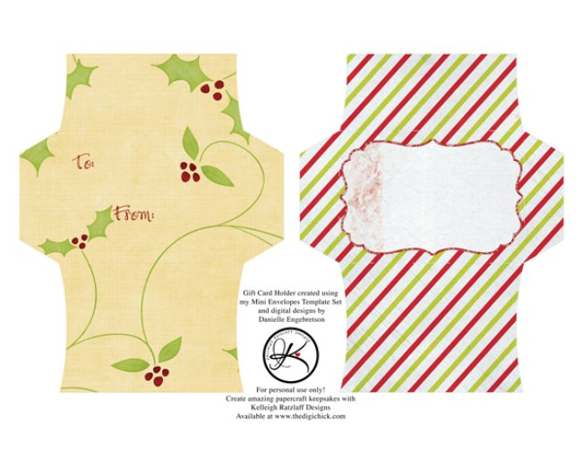 13 Free Printable Envelope Templates Tip Junkie - Gift Card Envelope Template