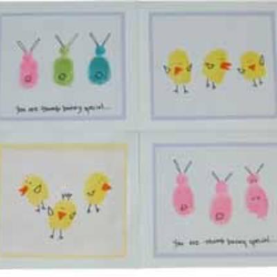 Fingerprint Easter Cards {Easter Cards for Kids to Make} Tip Junkie