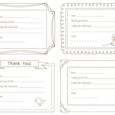 Kids Printable Thank You Note {Free Printable} Tip Junkie - printable thank you note