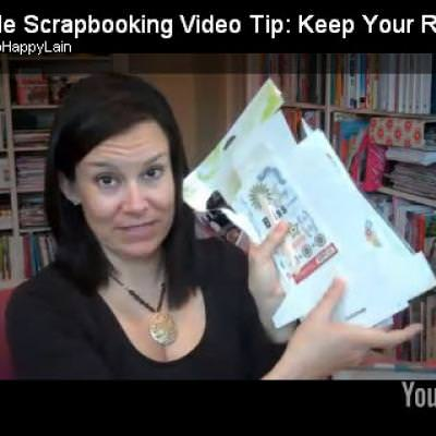 Simple Scrapbook Video Tip Keeping Your Rub-Ons Safe {Scrapbooking