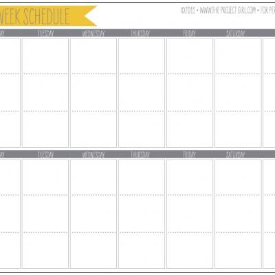 2 Week Planner {Printable Calendar} \u2013 Tip Junkie