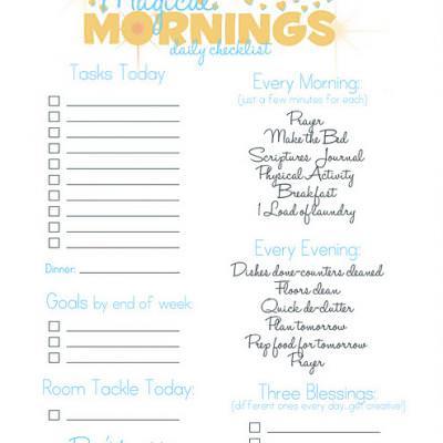 Daily Checklist {Get Organized} Tip Junkie - daily checklist