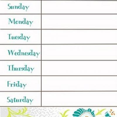Menu Planner {Weekly Calendar Printable} Tip Junkie