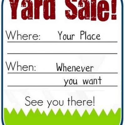Printable Yard Sale Sign {Free Printable Sign} \u2013 Tip Junkie