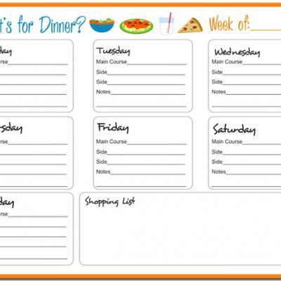 Weekly Meal Planner {Printable} \u2013 Tip Junkie