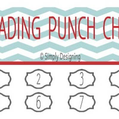 Printable Reading Punch Cards \u2013 Tip Junkie