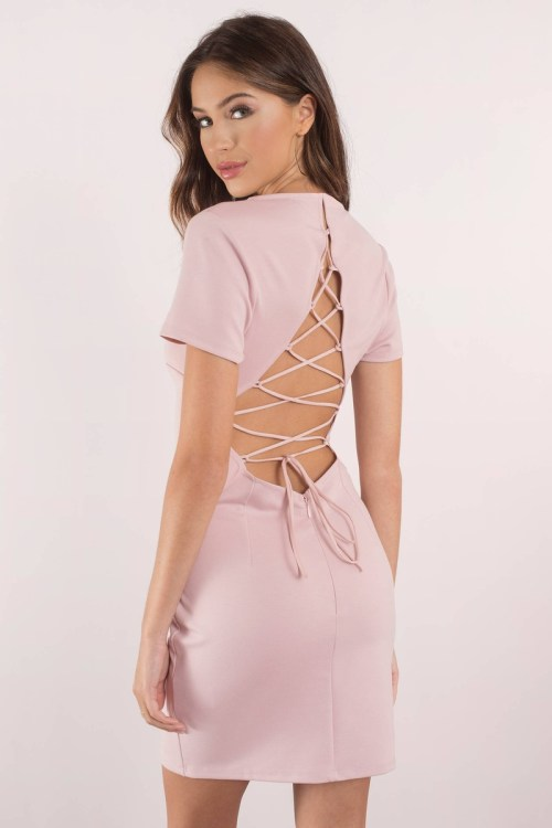 Medium Of Lace Up Dress