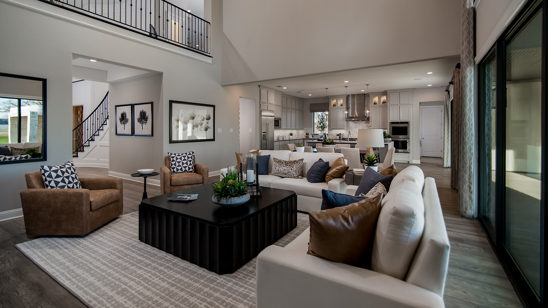 Living Room Vs Great Room Town Lake At Flower Mound The Monte Verde Home Design