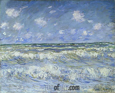 A Stormy Sea Monet Painting Reproduction 11040 TOPofART