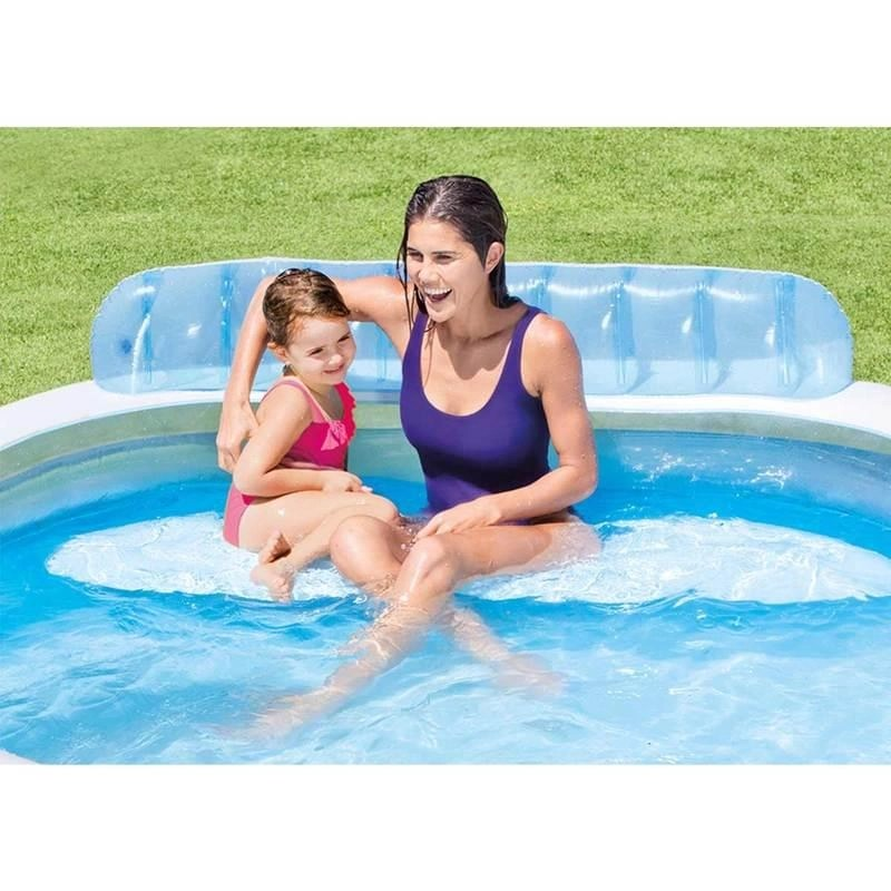 Intex Zwembad Family Lounge Intex Family Lounge Pool Kinderzwembad 224 X 216 X 76 Cm