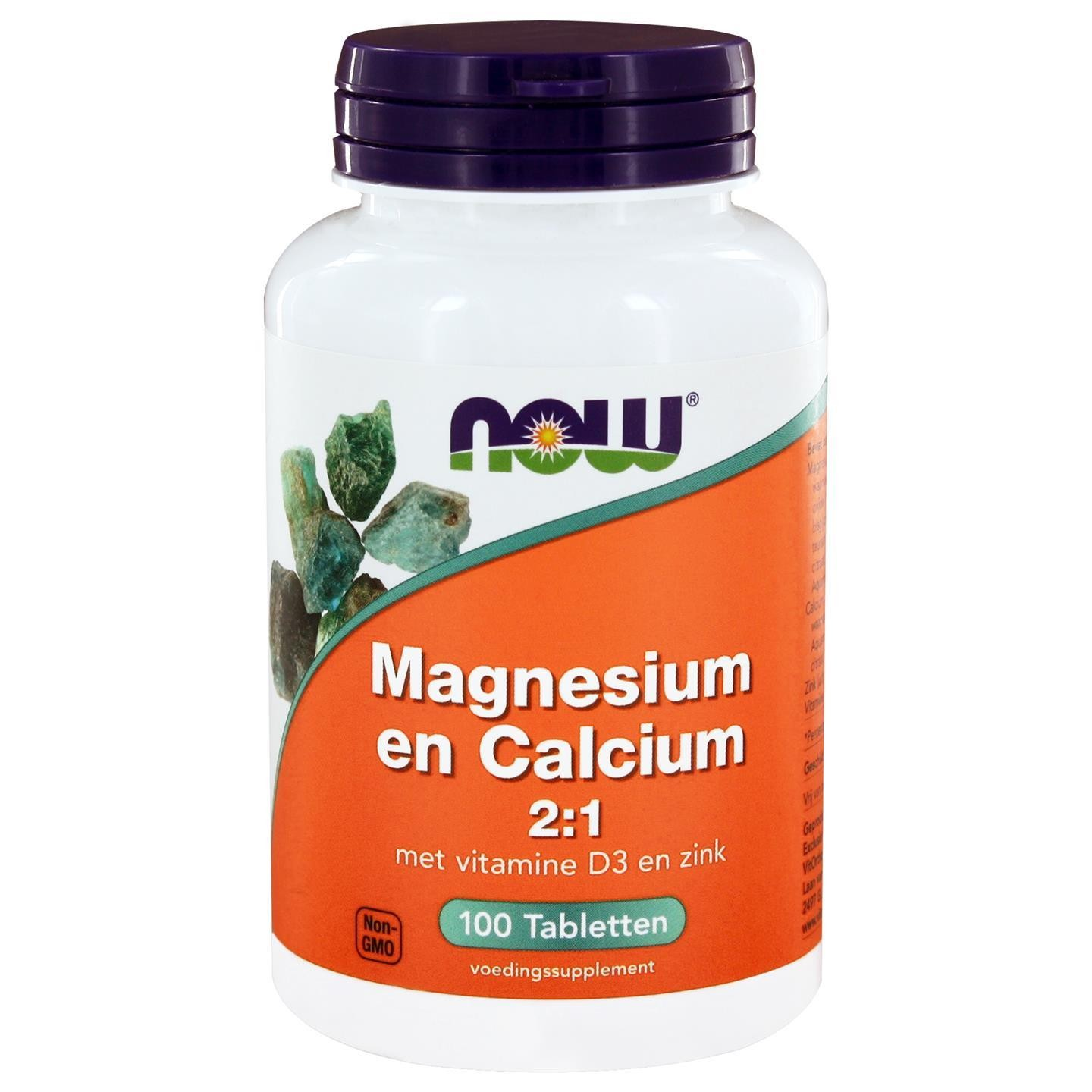 Calcium Tabletten Magnesium En Calcium 2 1 100 Tabletten Now Foods