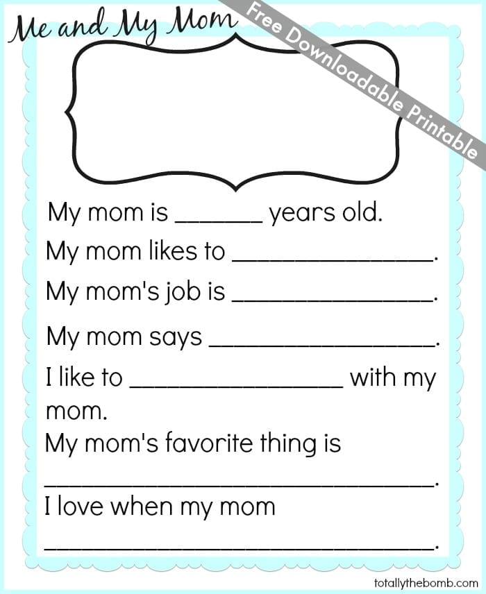 Free Mother\u0027s Day Printable