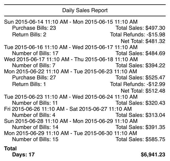 Generating Sales Reports - TouchBistro
