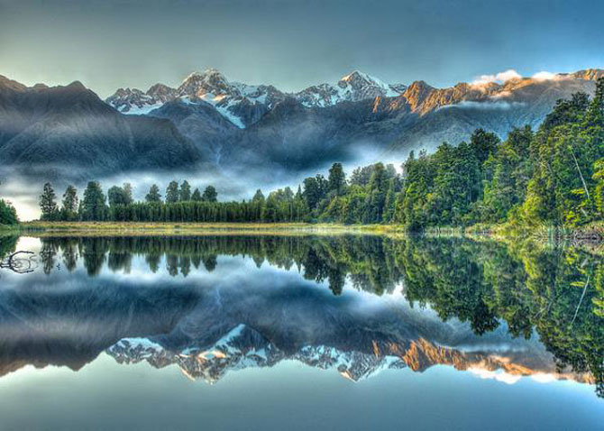 Fall Wallpaper Lake Lacul Oglinda Din Noua Zeelanda