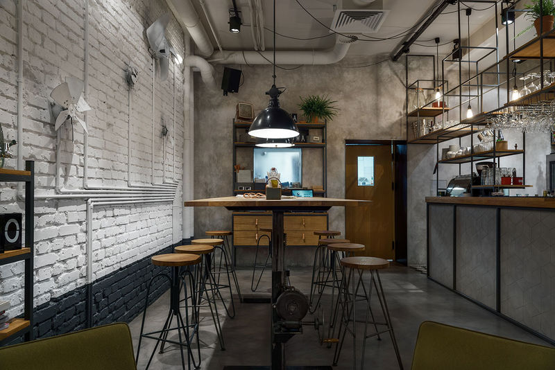 Inneneinrichtung Online Shop Industrial All-day Cafes : All-day Cafe