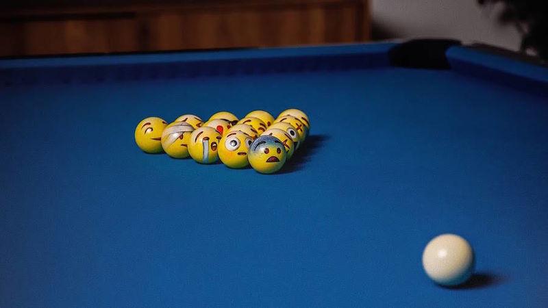 Emoticons Cute Wallpaper Emoji Billiard Balls Billiard Balls