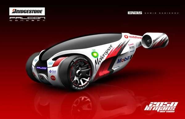 3d Changing Wallpaper Hybrid Jet Vehicles Bridgestone Falcon Concept Car