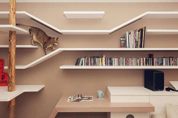 Multi Purpose Cat Shelving Cat Friendly Living Room