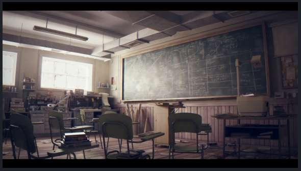 Classroom Wallpaper Hd Realistically Animated Shorts Classroom By Studio Aiko