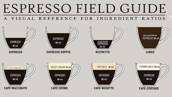 Espresso Measurement Charts  Coffee Recipe - measurement charts