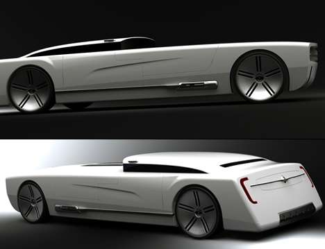 Custom Muscle Car Wallpaper Coffin Like Cars Colin Pan Designs A High Tech Automobile