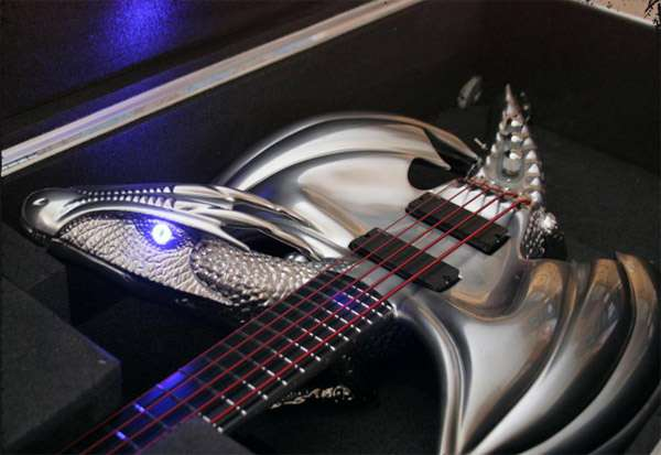 Zombie Wallpaper 3d Fire Breathing Guitars Draco Electric Guitar