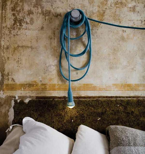 Leselampen Schlafzimmer Energy Efficient Art Lamps: Wool-clad Designer Lighting