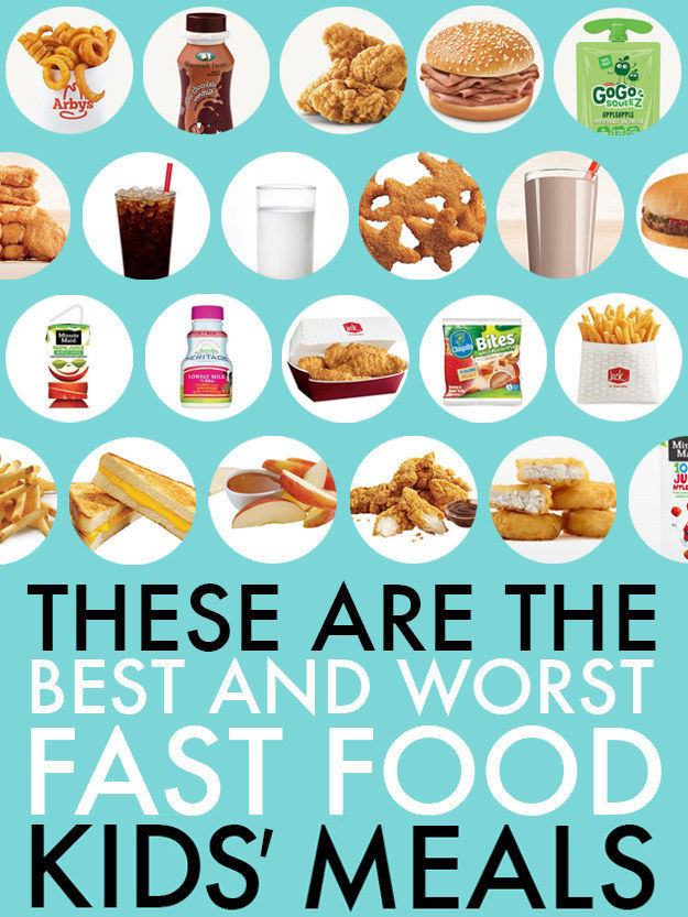 Children\u0027s Calorie-Comparing Charts  fast food kids\u0027 meals - food charts