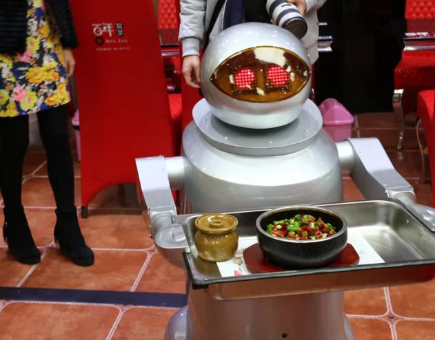 Robotic Fast Food Servers  fast food server