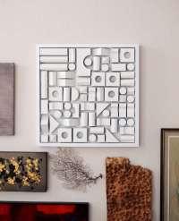 DIY Foam-Fitting Wall Decor : Foam Wall Art