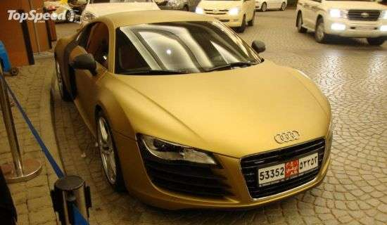 Rolls Royce Car Wallpaper Free Download Solid Gold Supercars Audi R8 Gets The Midas Touch