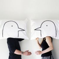 Affectionately Romantic Pillow Cases : his and her pillows